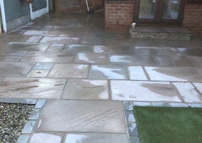 Indian flagstones resin stripped